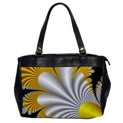 Fractal Gold Palm Tree On Black Background Office Handbags