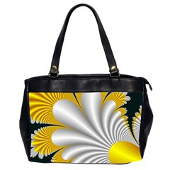 Fractal Gold Palm Tree On Black Background Office Handbags (2 Sides)