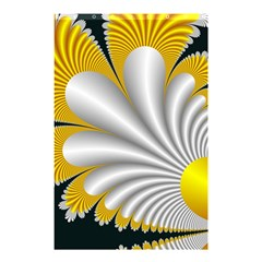 Fractal Gold Palm Tree On Black Background Shower Curtain 48  X 72  (small)