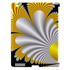 Fractal Gold Palm Tree On Black Background Apple Ipad 3/4 Hardshell Case (compatible With Smart Cover)
