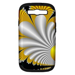 Fractal Gold Palm Tree On Black Background Samsung Galaxy S III Hardshell Case (PC+Silicone)