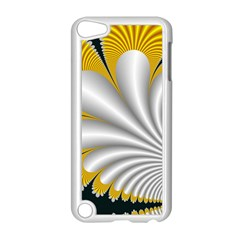 Fractal Gold Palm Tree On Black Background Apple Ipod Touch 5 Case (white)