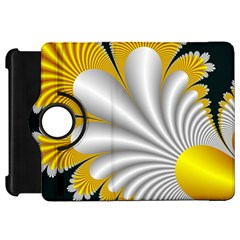 Fractal Gold Palm Tree On Black Background Kindle Fire Hd 7