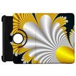 Fractal Gold Palm Tree On Black Background Kindle Fire HD 7  Front
