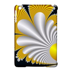 Fractal Gold Palm Tree On Black Background Apple iPad Mini Hardshell Case (Compatible with Smart Cover)