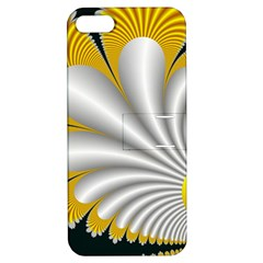 Fractal Gold Palm Tree On Black Background Apple Iphone 5 Hardshell Case With Stand
