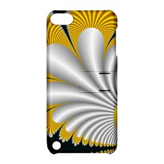 Fractal Gold Palm Tree On Black Background Apple Ipod Touch 5 Hardshell Case With Stand