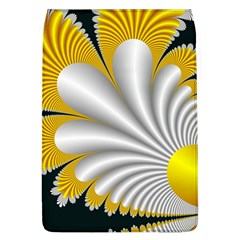 Fractal Gold Palm Tree On Black Background Flap Covers (l)