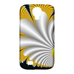 Fractal Gold Palm Tree On Black Background Samsung Galaxy S4 Classic Hardshell Case (pc+silicone)