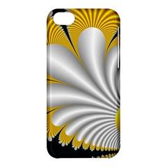 Fractal Gold Palm Tree On Black Background Apple Iphone 5c Hardshell Case