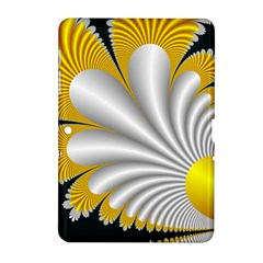 Fractal Gold Palm Tree On Black Background Samsung Galaxy Tab 2 (10 1 ) P5100 Hardshell Case