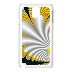 Fractal Gold Palm Tree On Black Background Samsung Galaxy Note 3 N9005 Case (white)