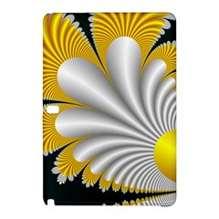 Fractal Gold Palm Tree On Black Background Samsung Galaxy Tab Pro 12.2 Hardshell Case