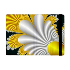 Fractal Gold Palm Tree On Black Background Ipad Mini 2 Flip Cases