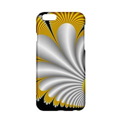 Fractal Gold Palm Tree On Black Background Apple Iphone 6/6s Hardshell Case