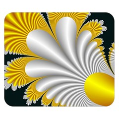 Fractal Gold Palm Tree On Black Background Double Sided Flano Blanket (small)