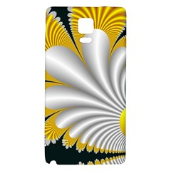Fractal Gold Palm Tree On Black Background Galaxy Note 4 Back Case