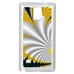 Fractal Gold Palm Tree On Black Background Samsung Galaxy Note 4 Case (white)