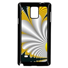 Fractal Gold Palm Tree On Black Background Samsung Galaxy Note 4 Case (Black)