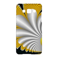 Fractal Gold Palm Tree On Black Background Samsung Galaxy A5 Hardshell Case