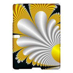 Fractal Gold Palm Tree On Black Background Samsung Galaxy Tab S (10 5 ) Hardshell Case