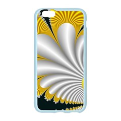 Fractal Gold Palm Tree On Black Background Apple Seamless iPhone 6/6S Case (Color)