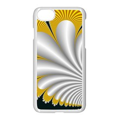 Fractal Gold Palm Tree On Black Background Apple Iphone 7 Seamless Case (white)