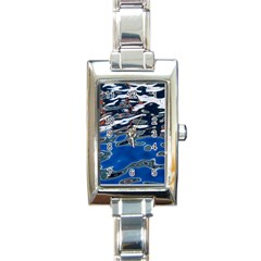 Colorful Reflections In Water Rectangle Italian Charm Watch