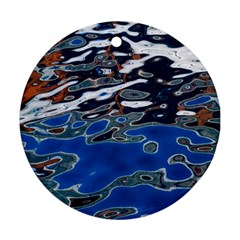 Colorful Reflections In Water Ornament (round)