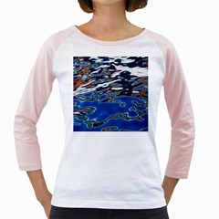 Colorful Reflections In Water Girly Raglans