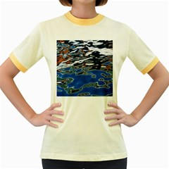 Colorful Reflections In Water Women s Fitted Ringer T-Shirts