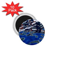 Colorful Reflections In Water 1 75  Magnets (10 Pack)