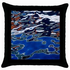 Colorful Reflections In Water Throw Pillow Case (black)