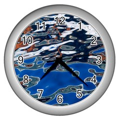 Colorful Reflections In Water Wall Clocks (silver)