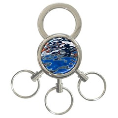 Colorful Reflections In Water 3 Ring Key Chains