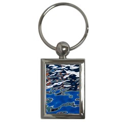 Colorful Reflections In Water Key Chains (rectangle)