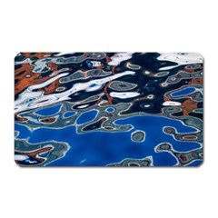 Colorful Reflections In Water Magnet (rectangular)
