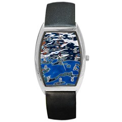Colorful Reflections In Water Barrel Style Metal Watch
