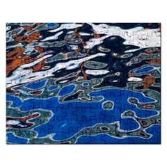 Colorful Reflections In Water Rectangular Jigsaw Puzzl