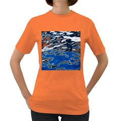 Colorful Reflections In Water Women s Dark T Shirt