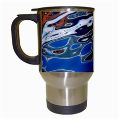 Colorful Reflections In Water Travel Mugs (white)