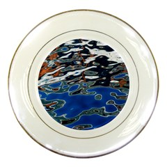 Colorful Reflections In Water Porcelain Plates