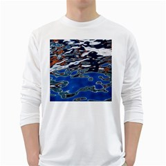 Colorful Reflections In Water White Long Sleeve T Shirts