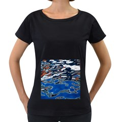 Colorful Reflections In Water Women s Loose Fit T Shirt (black)