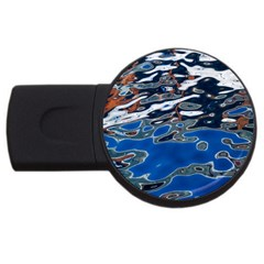 Colorful Reflections In Water Usb Flash Drive Round (4 Gb)