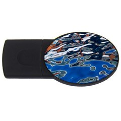 Colorful Reflections In Water Usb Flash Drive Oval (4 Gb)