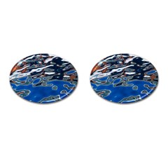 Colorful Reflections In Water Cufflinks (oval)