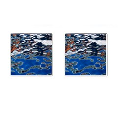 Colorful Reflections In Water Cufflinks (square)