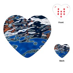 Colorful Reflections In Water Playing Cards (heart)