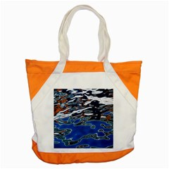 Colorful Reflections In Water Accent Tote Bag